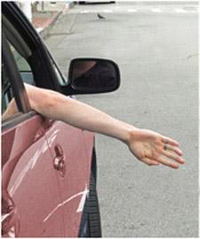 Left Turn Hand Signal